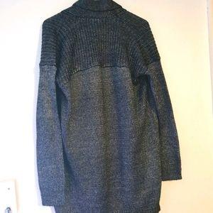 Metallic looking winter jacket, cardigan.